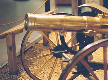 photograph of a brass cannon used during the civil war