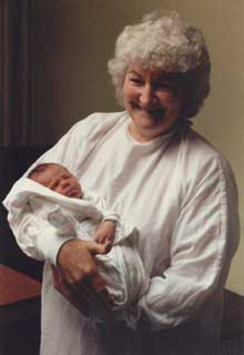 A Photograph of Grandmother Holding Baby