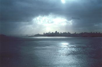 An artistic photograph of SanFrancisco